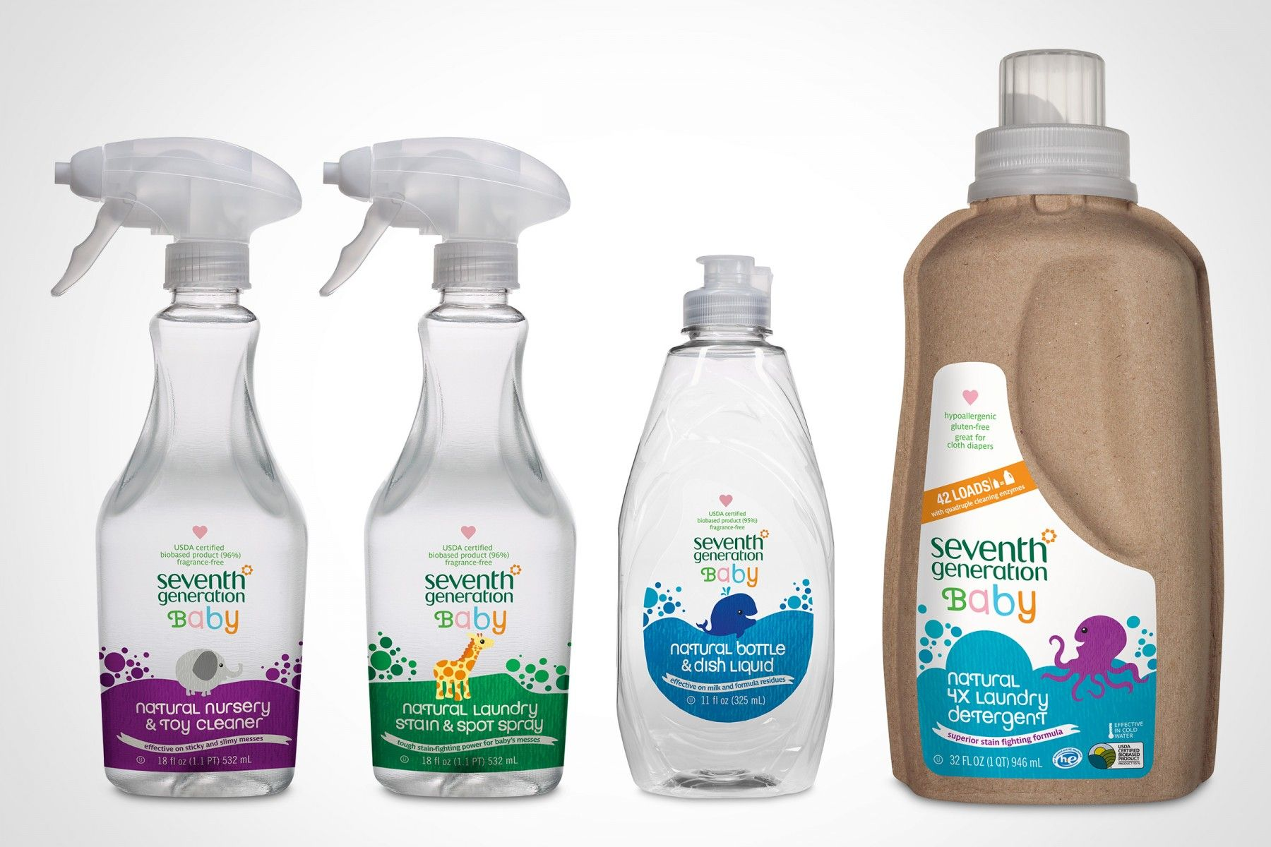Seventh Generation Baby Baby Products Packaging Bottle Design