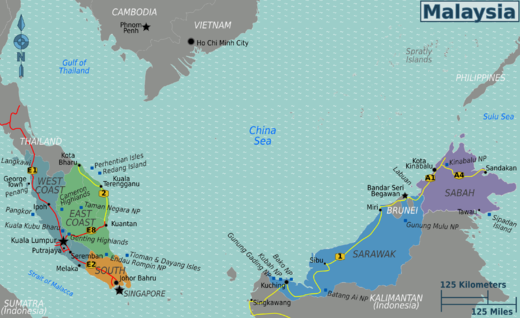 Kuala Lumpur On Map
