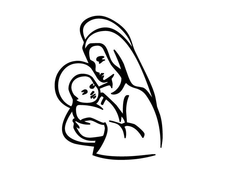 σκιτσα ιησους - Αναζήτηση google | ΑΓΙΟΙ!!! | pinterest | mother mary - Mary Baby Jesus Coloring Page