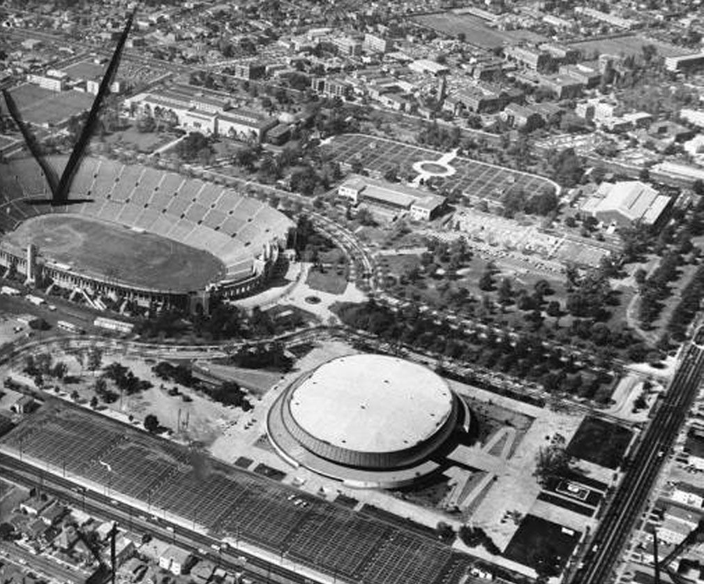 L.A. Sports Arena right after completion. Places in