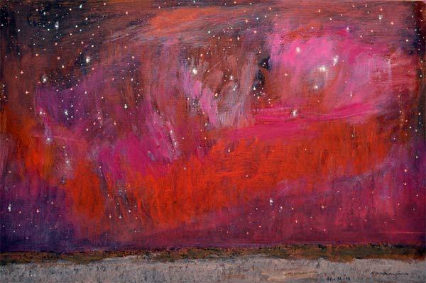 Natale Addamiano. Stellare и la sera. 2011      olio su tela / oil on canvas    cm 40x60 / inch 15.7x23.6    2011