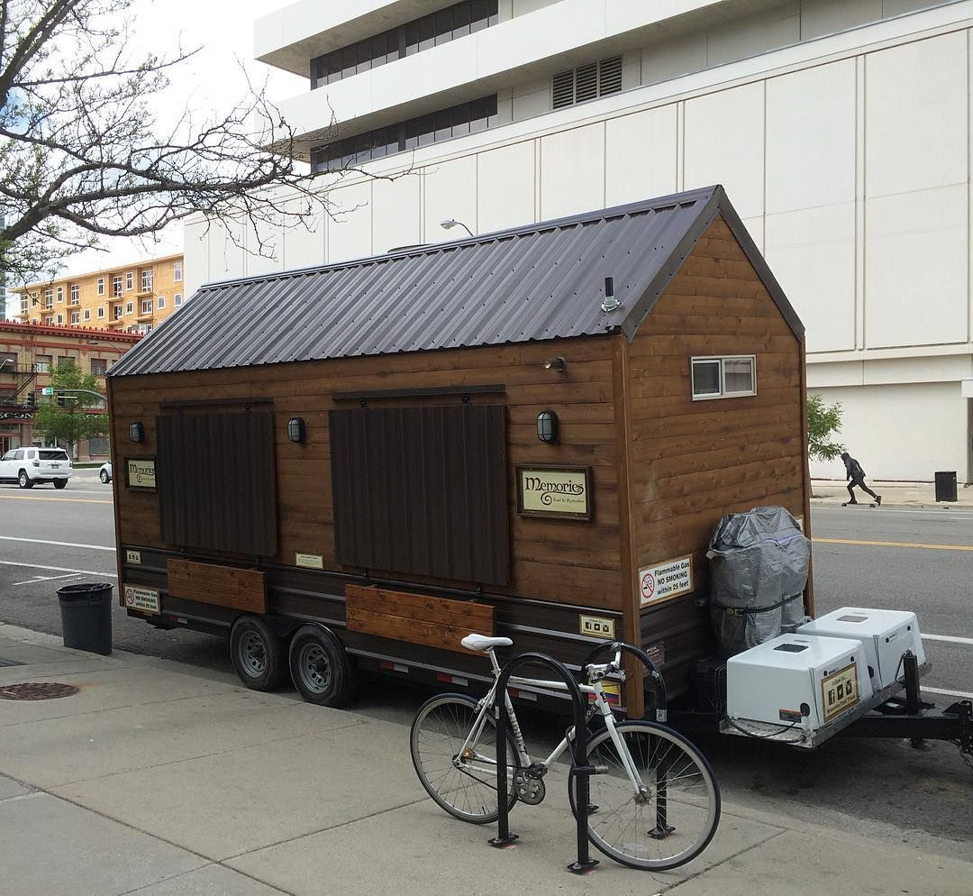 Downtown Salt Lake City Living: Spotted This Tiny House Converted Into A Food Truck In