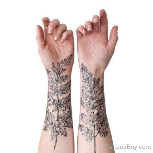 Blatt Tattoo am Handgelenk - Beste Tätowierung | Tattoo ...
