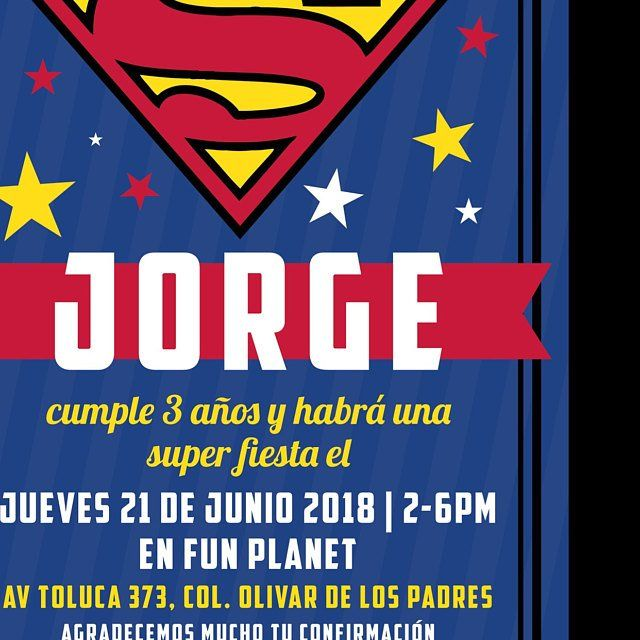 Superman Birthday Invitations Printable Invite Digital Party