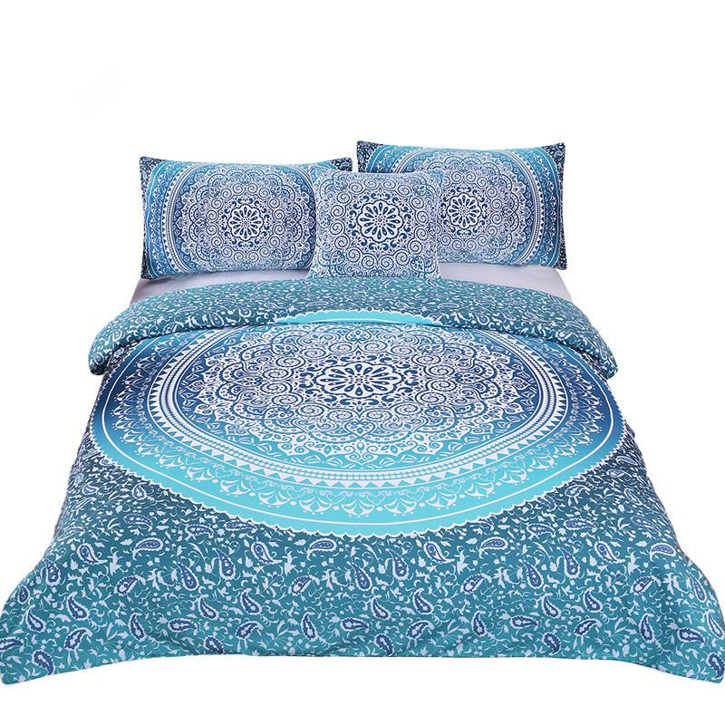 Best Luxury Boho Bedding Set Queen Crystal Arrays Duvet Quilt 400 x 300