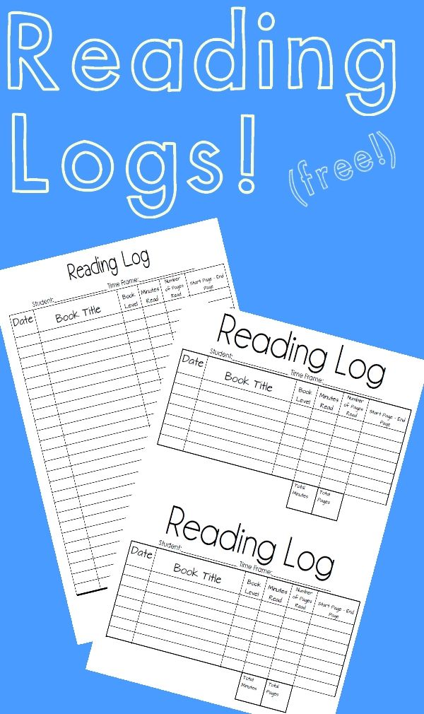 Daily Reading Log Reading logs, Reading intervention