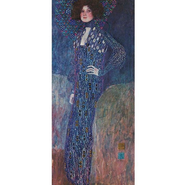 Gustav Klimt; 'Portrait of Emilie Floege', 1902