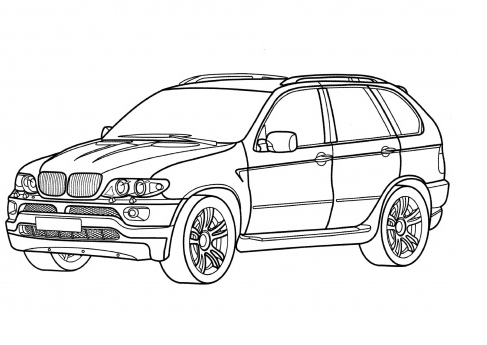 BMW X5 Coloring Page Home Look Whos Coloring Pinterest