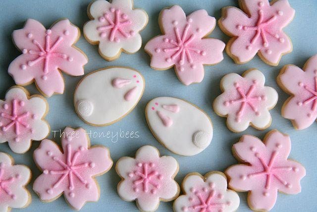 Sakura Snow Bunnies cookies | Flickr: Intercambio de fotos