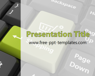 Online Shopping PowerPoint Template is a white template with ...