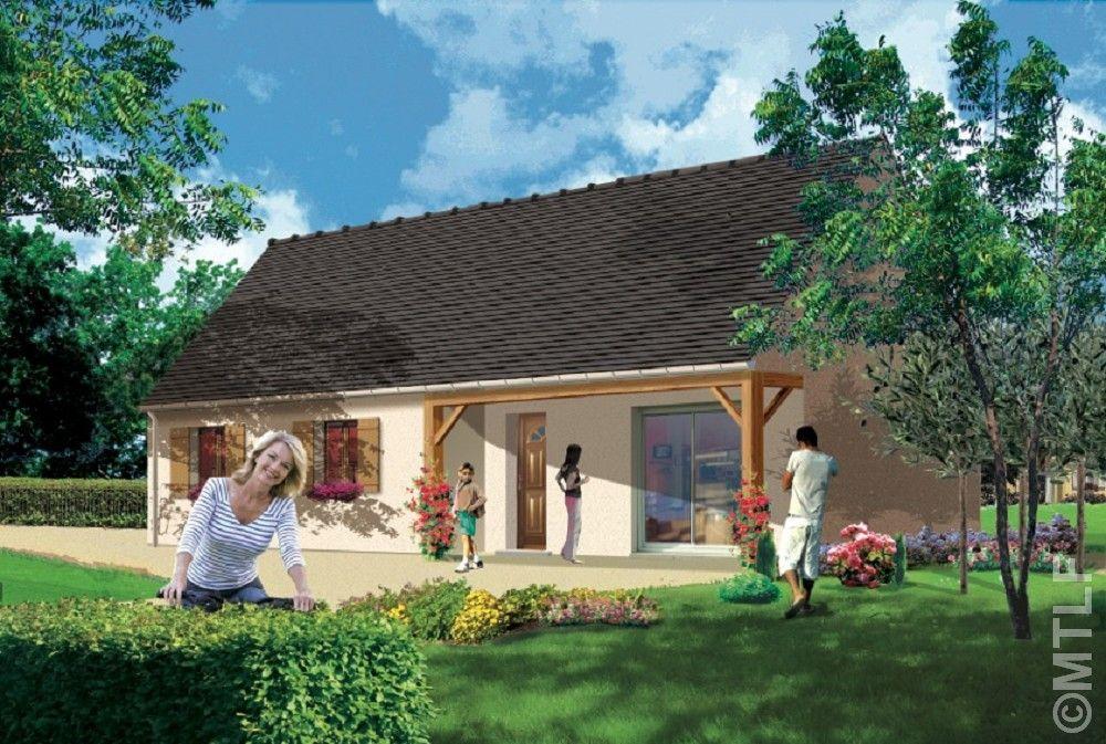 Modèle de maison CHARPENTIERE en RT2012  MTLF, constructeur maison - modele de construction maison