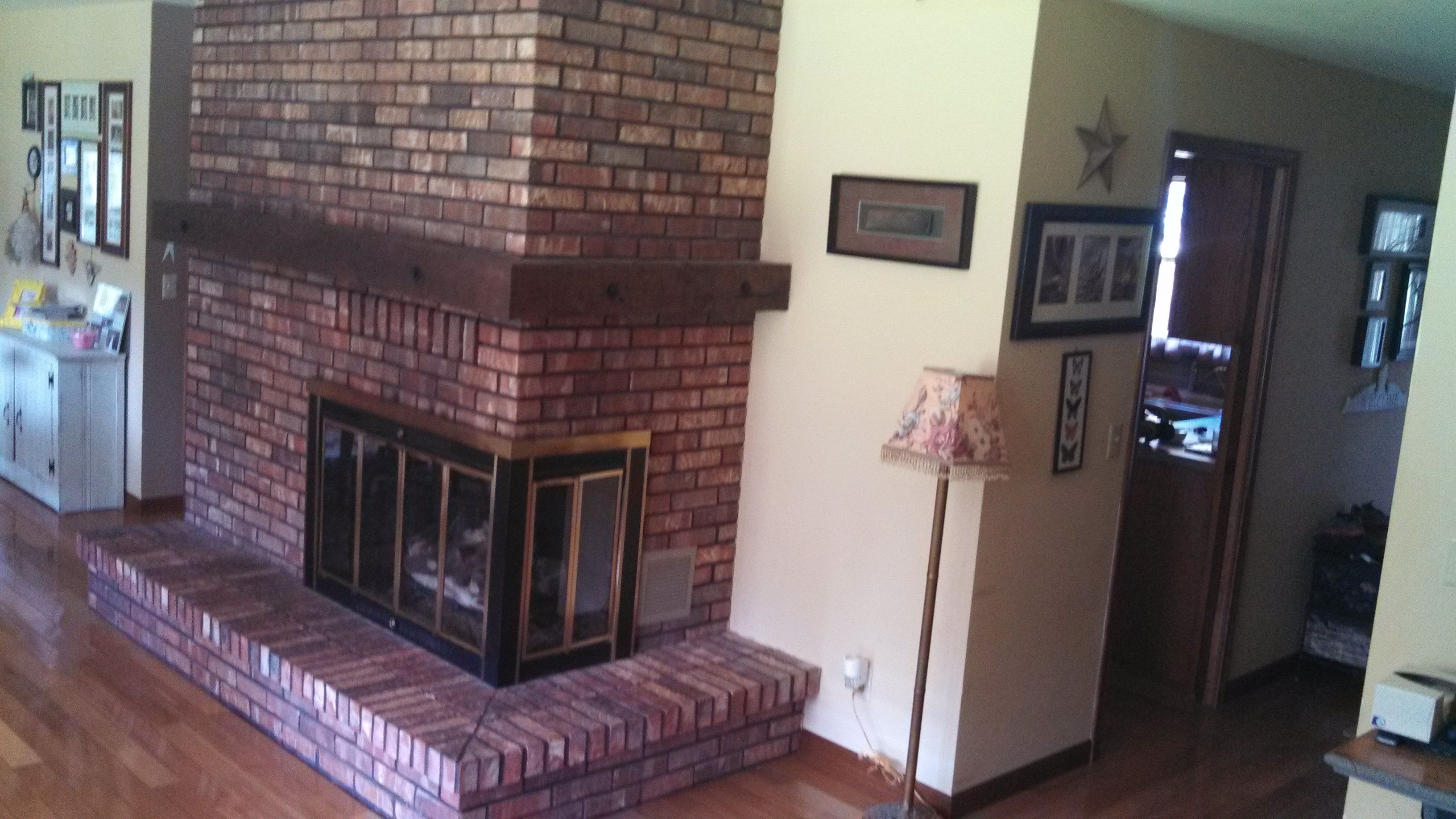 Before Picture S Brick Fireplace
