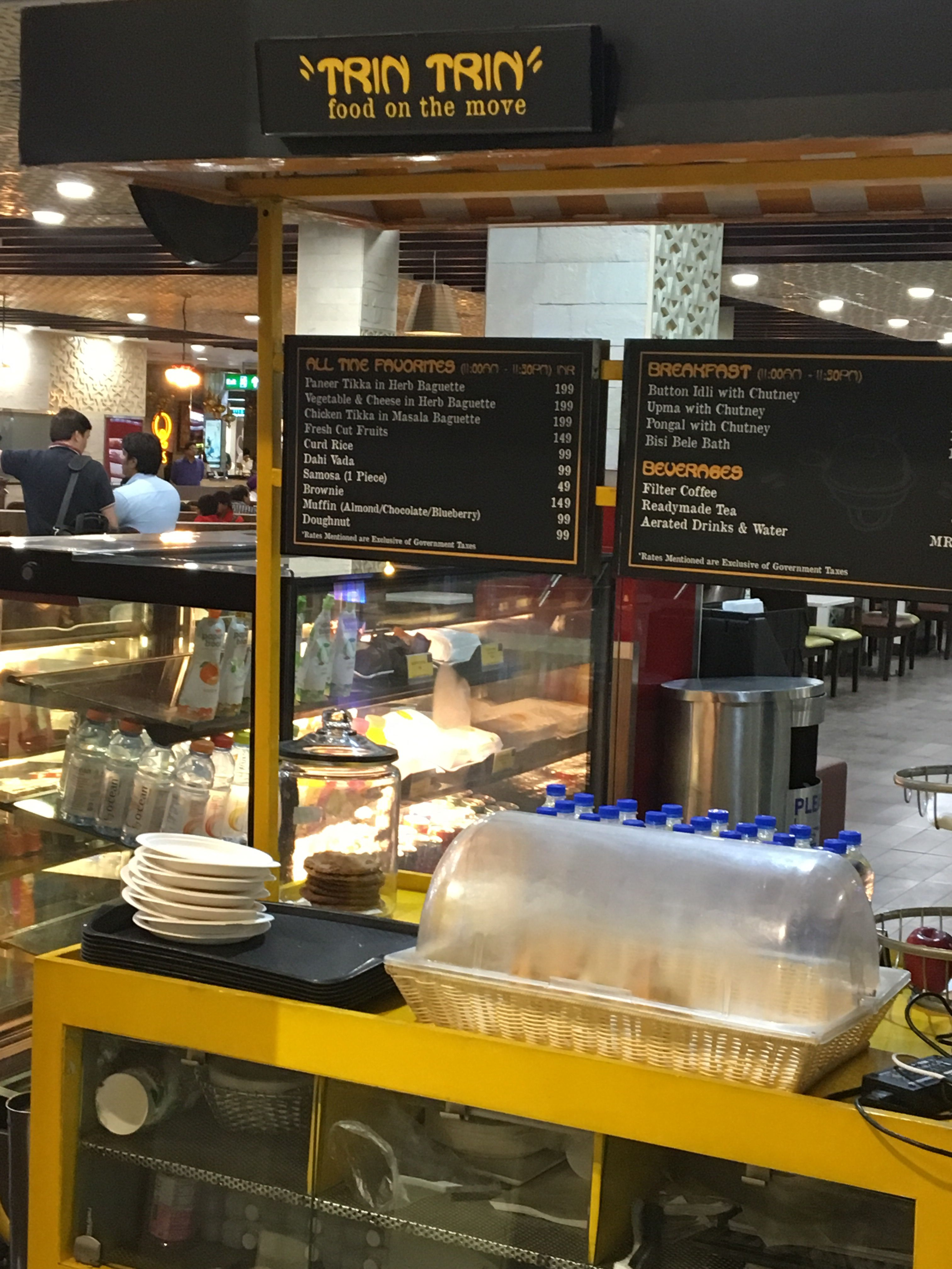 Spotted! #Ecoware at #Bangalore #airport #food