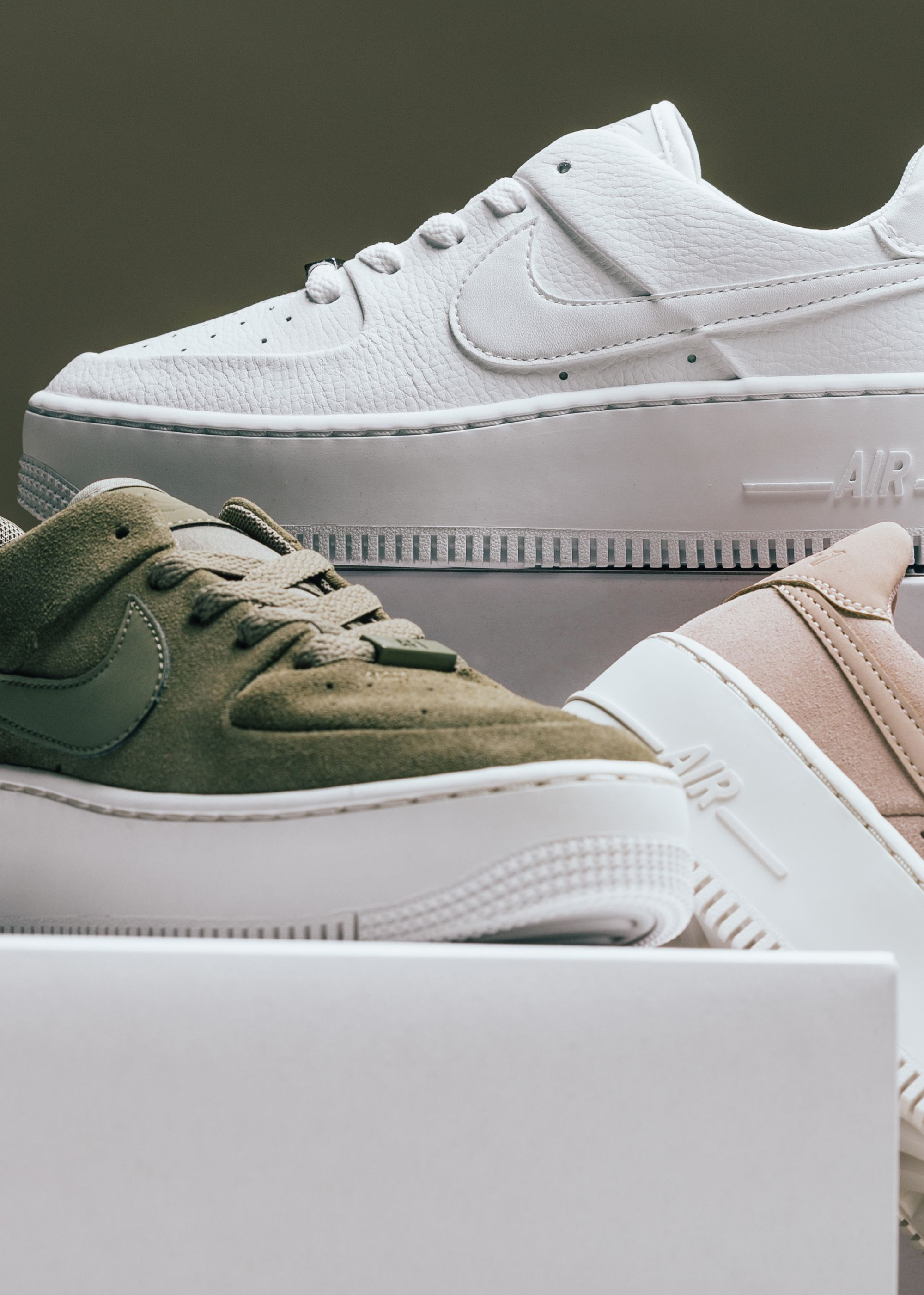 sale retailer a2970 2ca55 Nike Womens Air Force 1 Sage Low