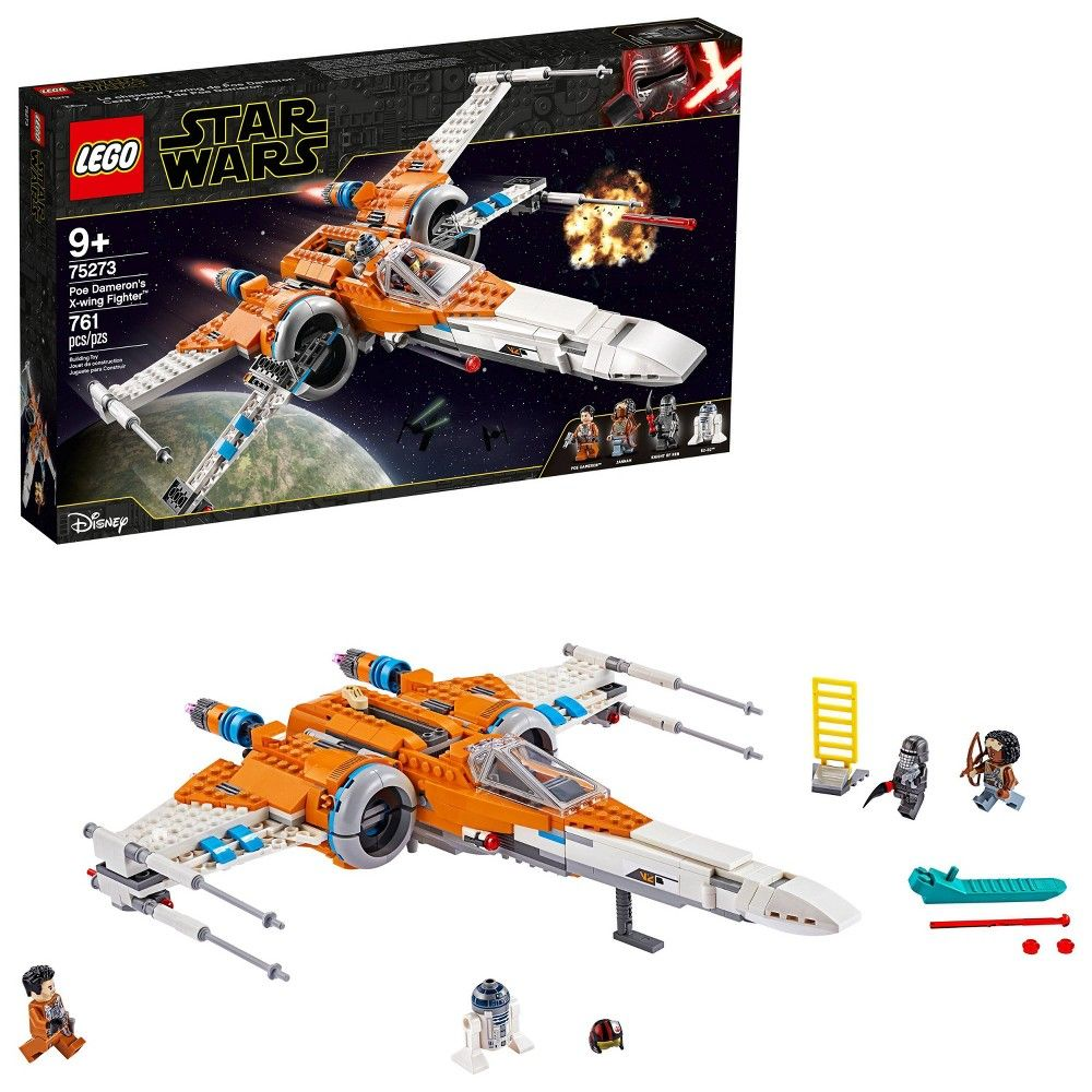 Lego Star Wars Poe Dameron S X Wing Fighter Building Kit 75273 Star Wars Poe Lego Star Wars Sets Lego Star Wars