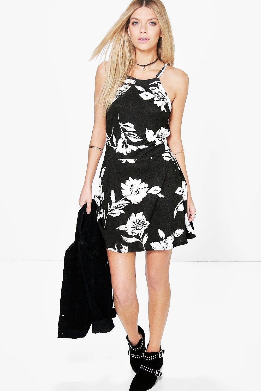 Black floral dress leila
