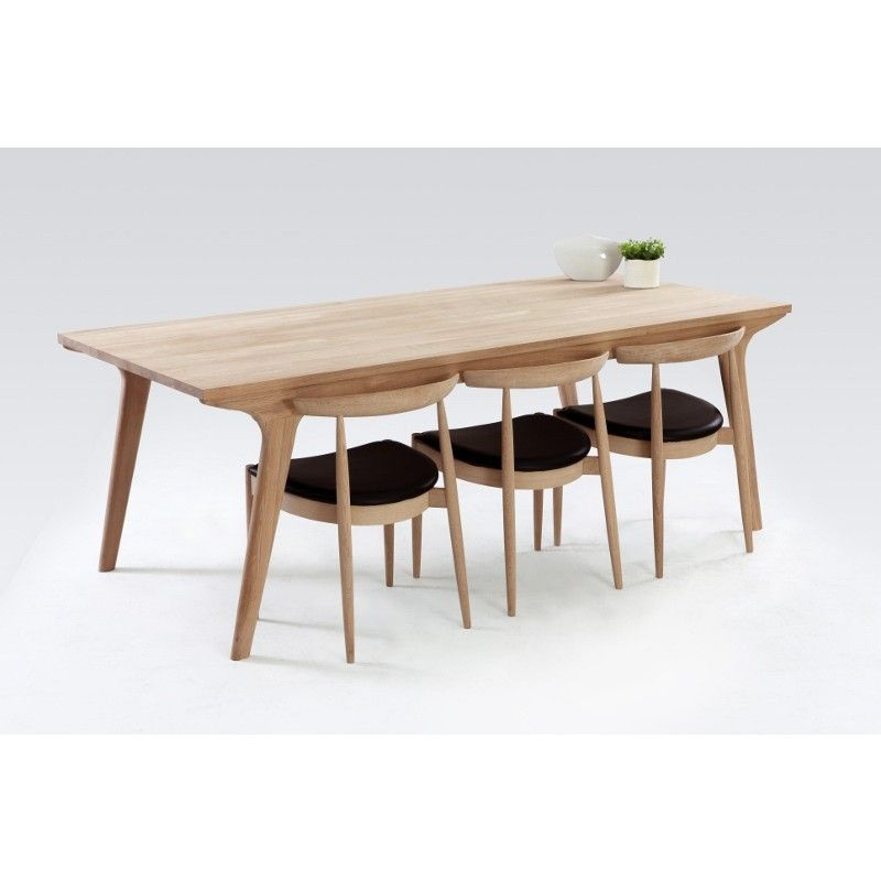 Oak Dining Table Danish Furniture And Dining Tables On Pinterest Intended  For Modern Oak Dining Table