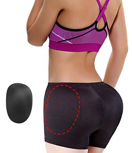 4ce9149c01d79 Hip Enhancer Butt Lifter Padded Panty Removable Pads Boyshorts Underwear  3XL Black -- You can get additional details at the image link.