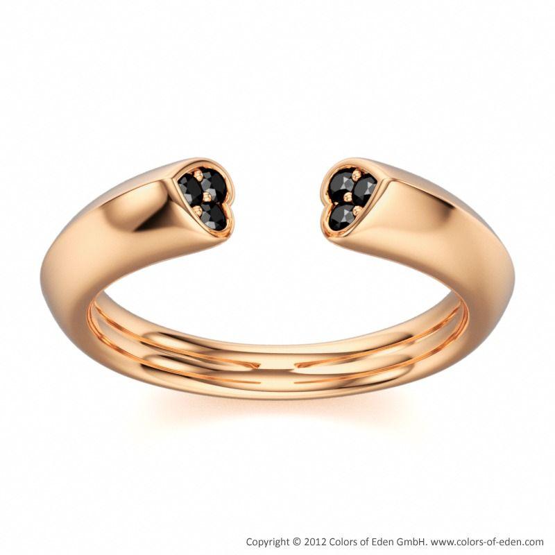 Rose Gold Ring #black #love #band