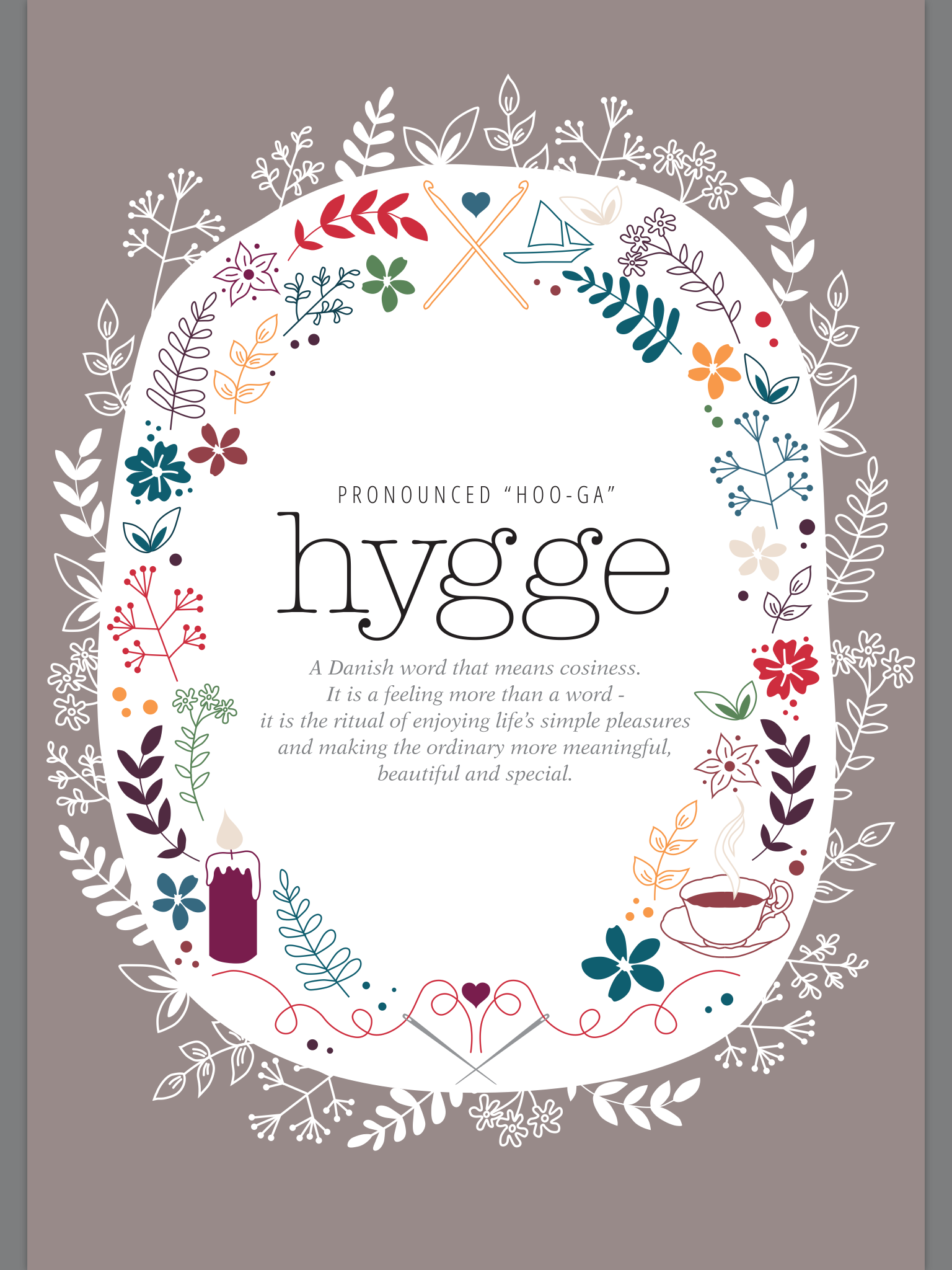 """""""hygge: a Danish word that means coziness. It is a feeling more than a word - it is the ritual of enjoying life's small pleasures and making the ordinary more meaningful, beautiful, and special."""" #cozy #cozylife #hygge #hyggelifestyle"""