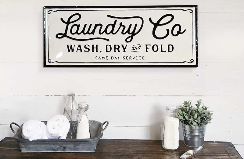 Metal Laundry Co Sign Vintage Laundry Sign Laundry Signs Laundry Room Update