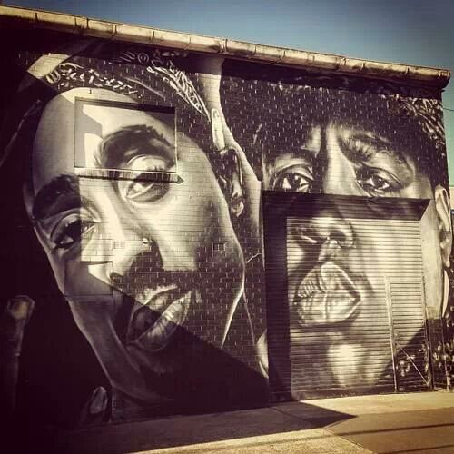 2pac & biggie | Street Art | Pinterest | Hip hop, Tupac ...