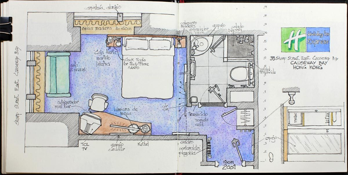 Holiday Inn Express Causeway Bay Hong Kong Hotel Room Design Hotel Plan Craftsman Floor Plans