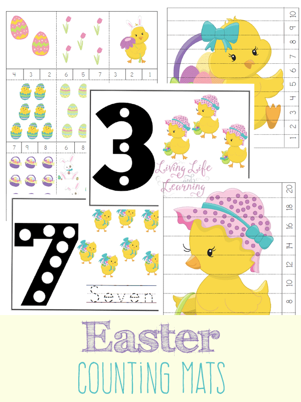 Easter Counting Mats   Fun learning, Easter and Number
