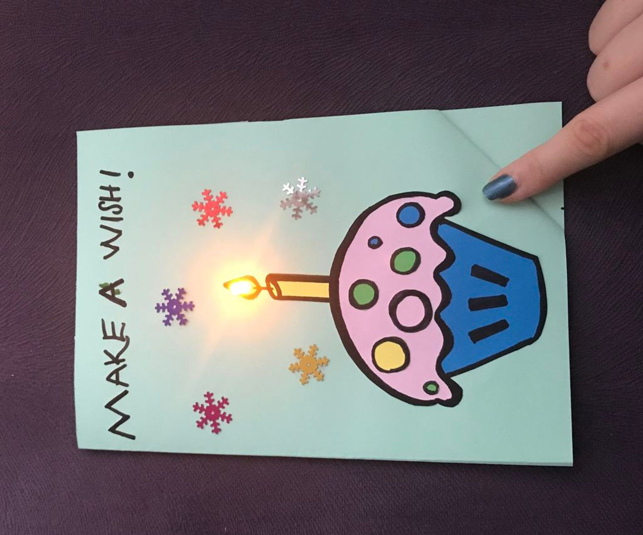 Let S Make A Paper Circuit Birthday Card 4 Steps Instructables Birthday Card Online Card Making Birthday Birthday Cards