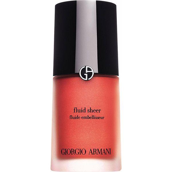 Giorgio Armani Fluid Sheer Skin Illuminator ($43) ❤ liked on Polyvore featuring beauty products, makeup, face makeup, giorgio armani, giorgio armani makeup and giorgio armani cosmetics