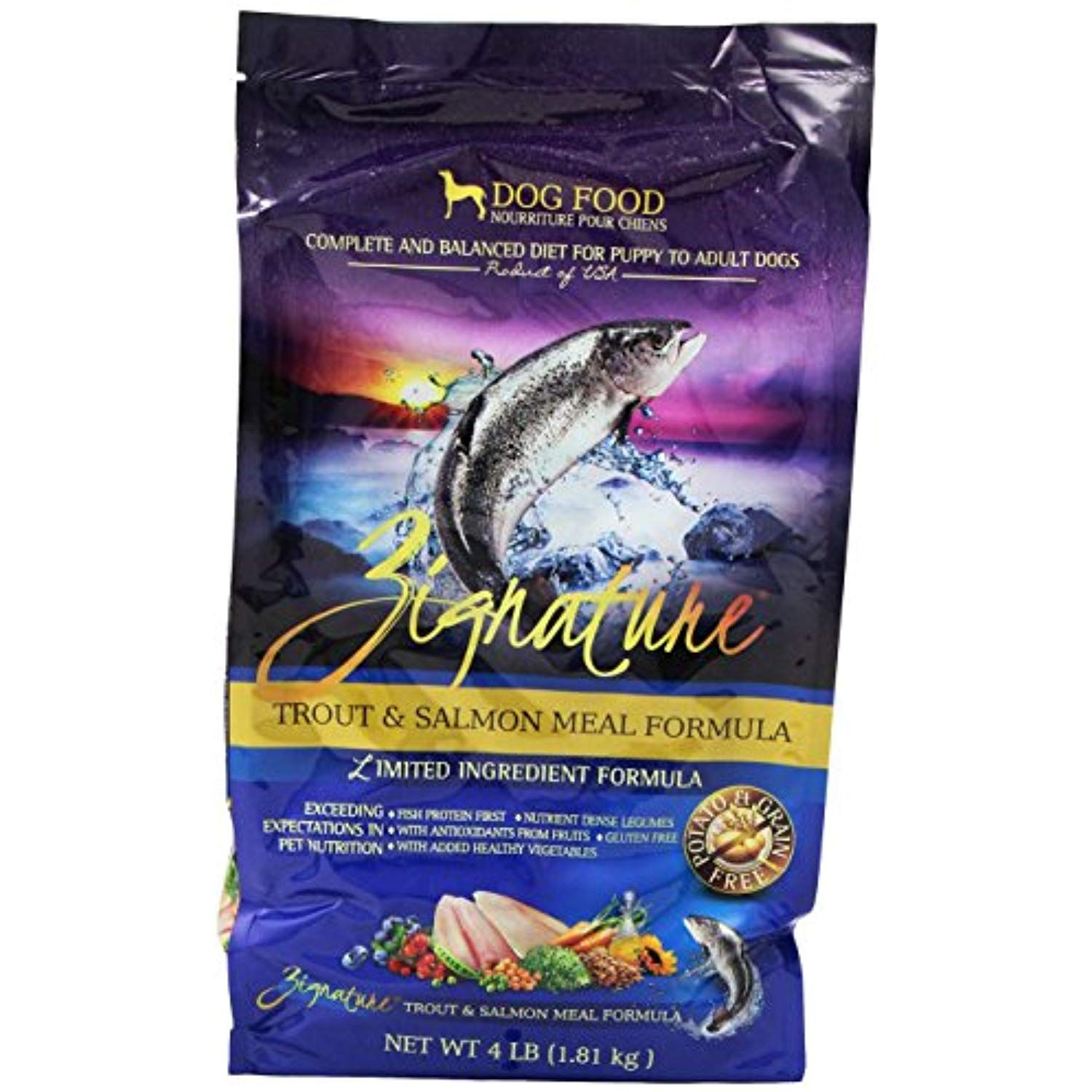 Zignature Trout And Salmon Dog Food 4 Pound You Can Get