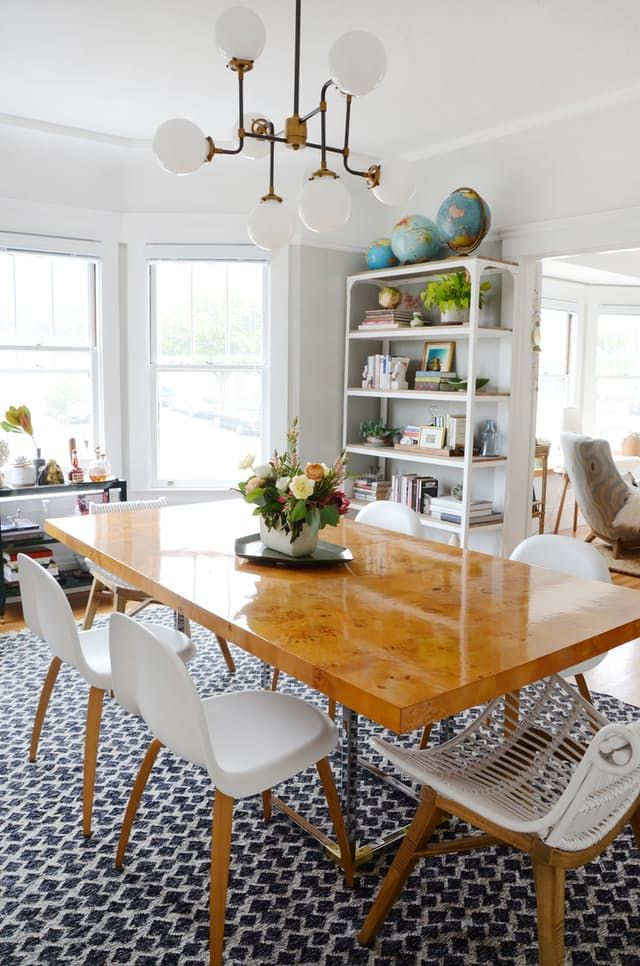 We couldnt be more in love with this dining room from the unique
