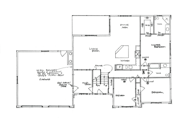 Really like this one! open concept raised bungalow floor ... on