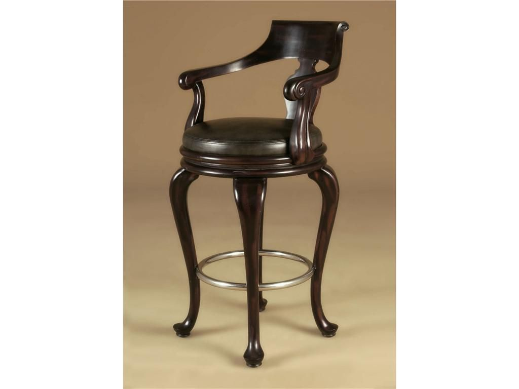 Maitland Smith Bar And Game Room Antique Aubergine Finished Swivel Barstool Black Leather Seat Brushed Satina Accents 4230 602 Walt Wood Bar Stools Bar Stools How To Antique Wood