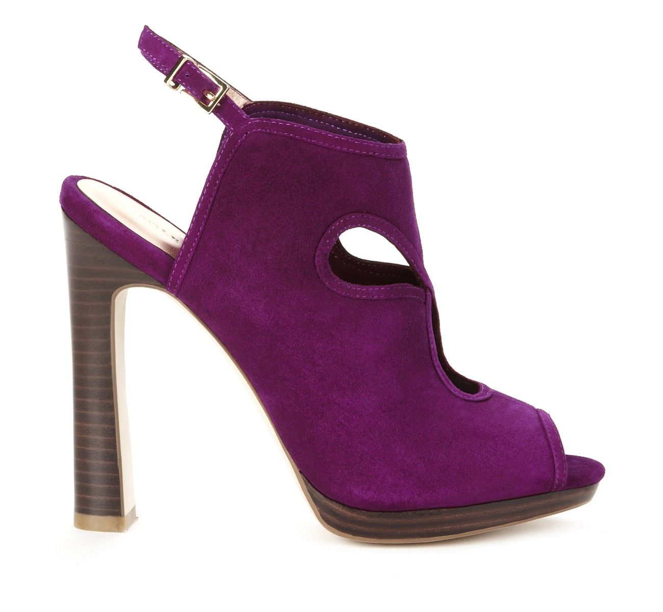 481093a73 If i were ever to wear heels like these... i am so in love with these. violet  suede peep toe ...