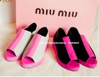 2013 western style new spell color restoring ancient ways  zipper wedges fish mouth shoes thick bottom of shoes