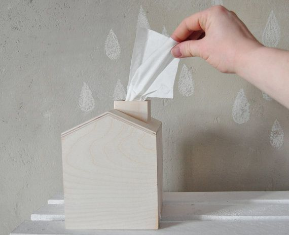 Tissue Box Wooden House With Chimney Unfinished Wood Christmas Decor Unpainted Natural Wood Diy Wooden Toy Box Wooden House Wooden Boxes Tissue Boxes