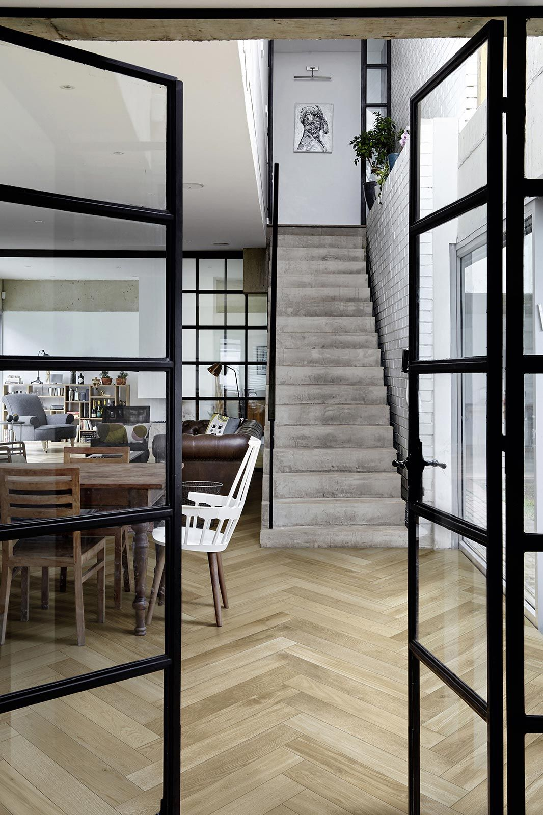 Pavimento Effetto Parquet Marazzi treverkfusion - gres effetto legno | marazzi | living room
