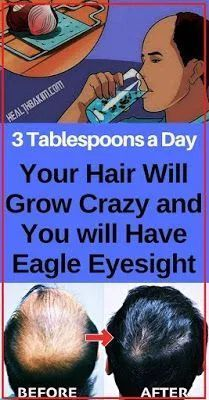 THREE TABLESPOONS A DAYTIME, YOUR HAIR WILLPOWER P