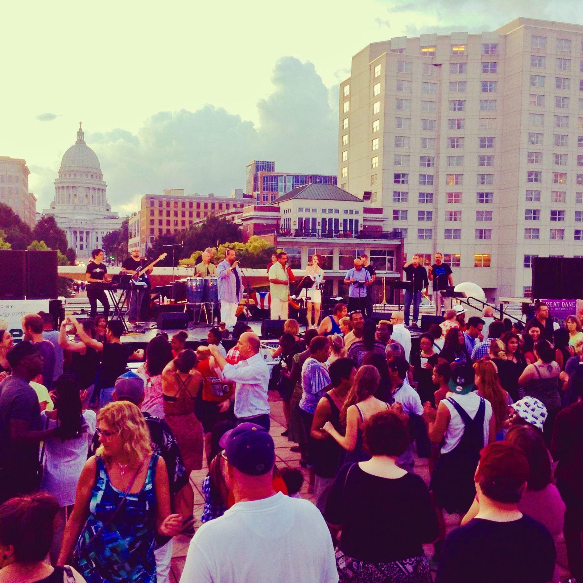 Dane Dances On The Rooftop Of The Monona Terrace Madison Wi Monona Terrace Madison Monona