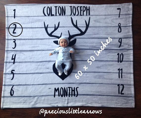 Deer Crib Sheet shiplap nursery deer personalized crib sheet custom boys crib sheet Deer Milestone Blanket /& Sheet set  boys nursery