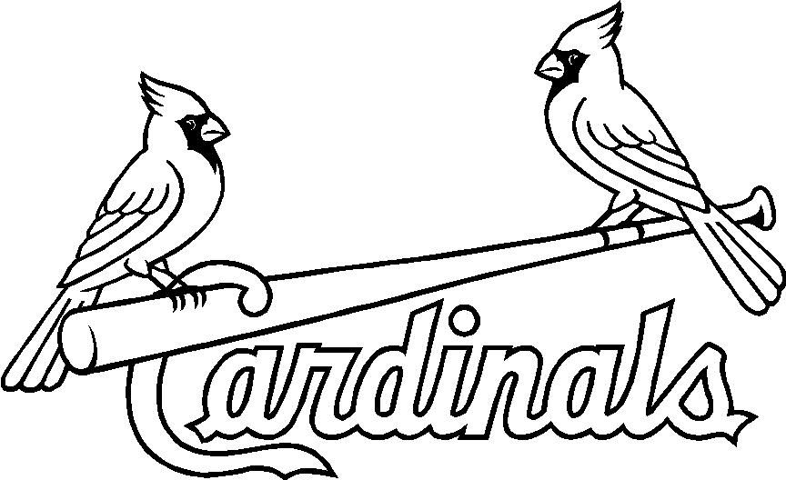 cardinals coloring pages baseball logos | baseball adult coloring pages | Related Posts to the St ...