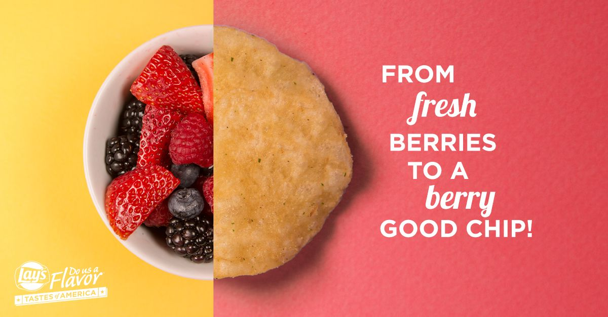 Oregon has some of the country's freshest berries. Wouldn't a mixed berry bowl be delicious as a chip? Submit your favorite flavors today for a chance to win $1 million. See rules. bit.ly/DoUsAFlavor8