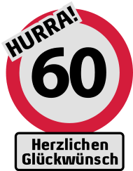 60 Geburtstagsshirt Hurra 60 Geburtstag Herzlichen Gluckwunsch