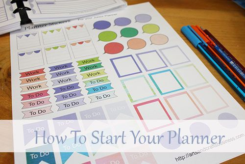Free Stickers For Your Planner Home Management Binder Pinterest