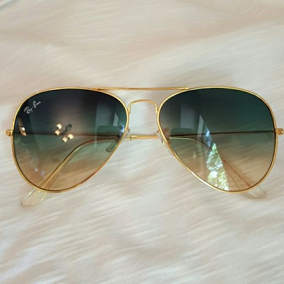 71f1c86f3 Aviator sunglasses Ombre sunglasses Not real Not box Not scratches Ray-Ban  Accessories Sunglasses