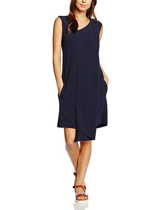 18a99f5eccc0 Strenesse Damen Cocktail Kleid Knielang, Gr. 38, Blau Sommerkleid ...