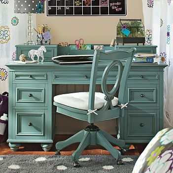PB version of the painted desk. Yep, need to paint girl's furniture!