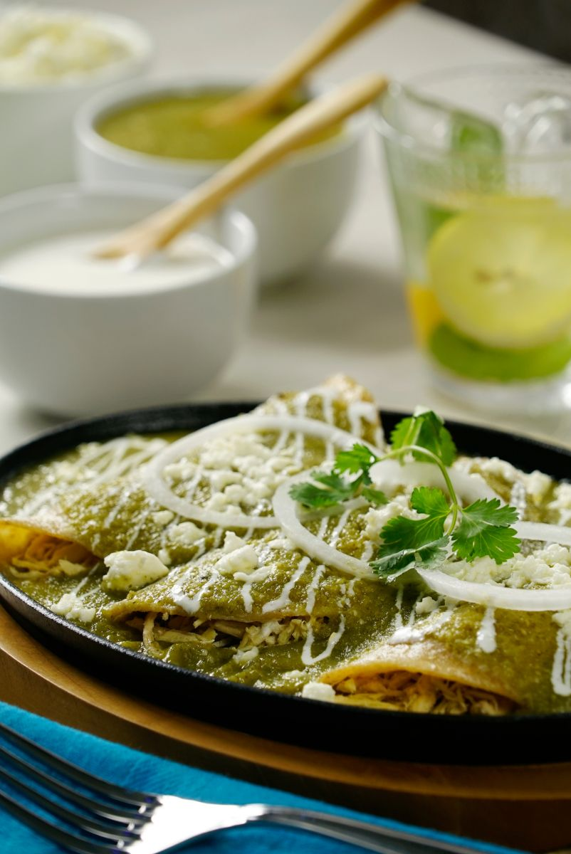 Deliciosas Enchiladas Verdes | Recipe | Mexican food ...