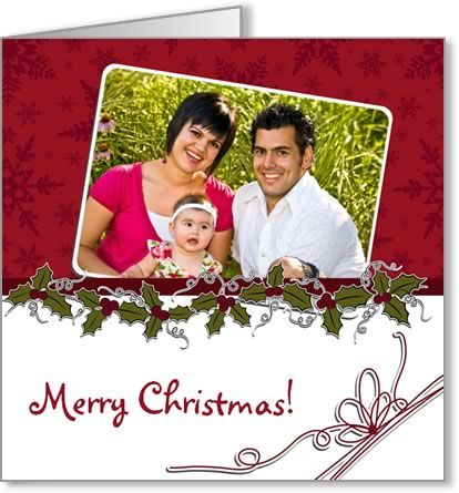Free Photo Insert Christmas Cards to Print at Home, using your own - christmas card word